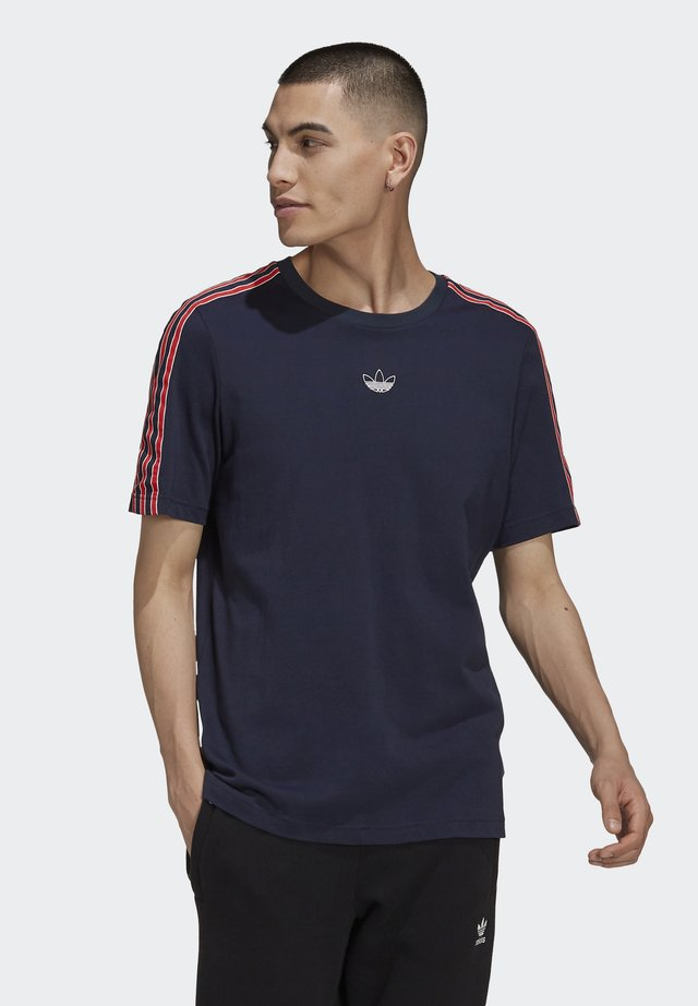 STRIPE UNISEX - Print T-shirt - legend ink
