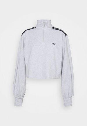 CROPPED HALFZIP - Sweatshirt - light grey heather