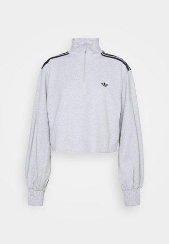 CROPPED HALFZIP - Sweater - light grey heather