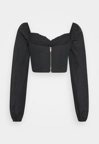 Missguided - RUCHED MILKMAID - Blouse - black - 1