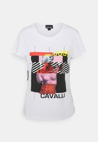 Just Cavalli - Triko s potiskem - optical white - 0