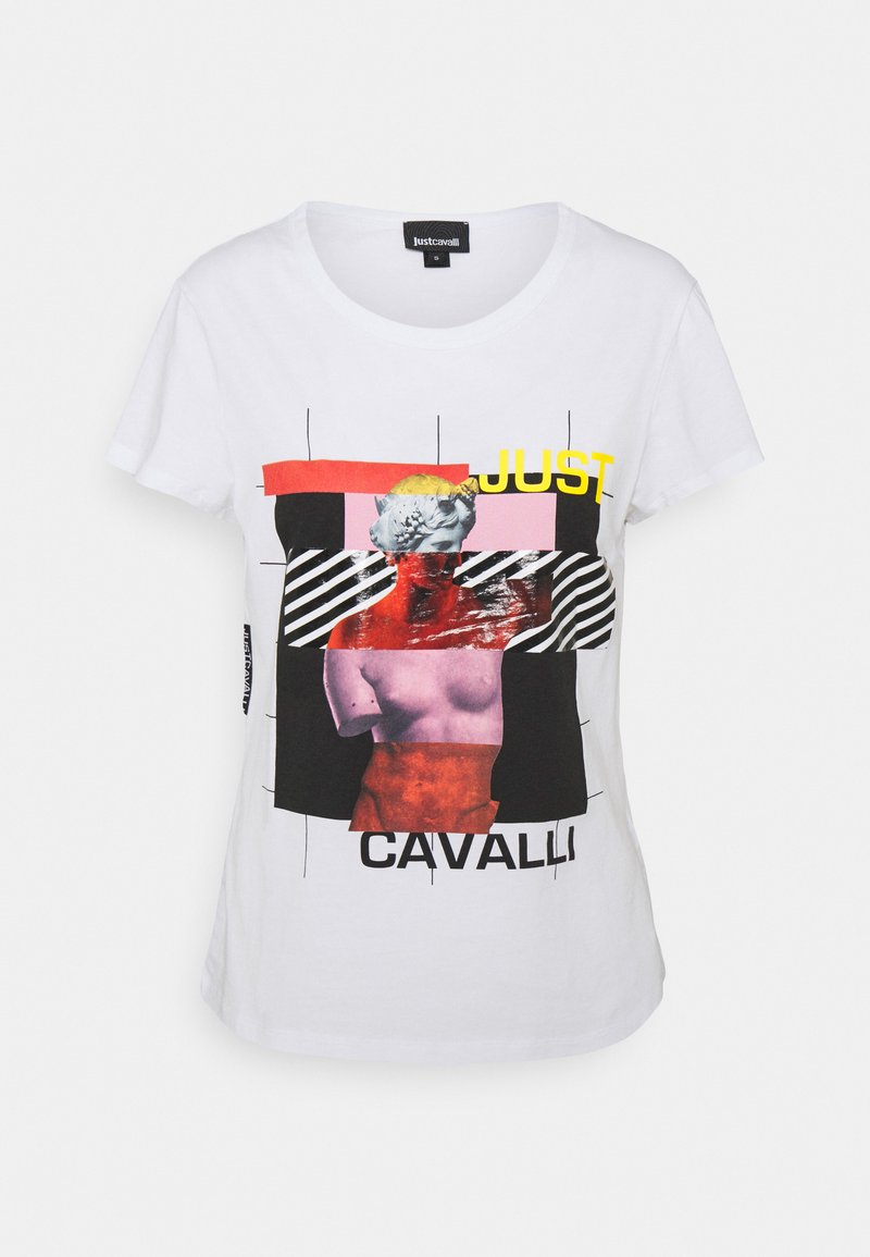 Just Cavalli - Triko s potiskem - optical white