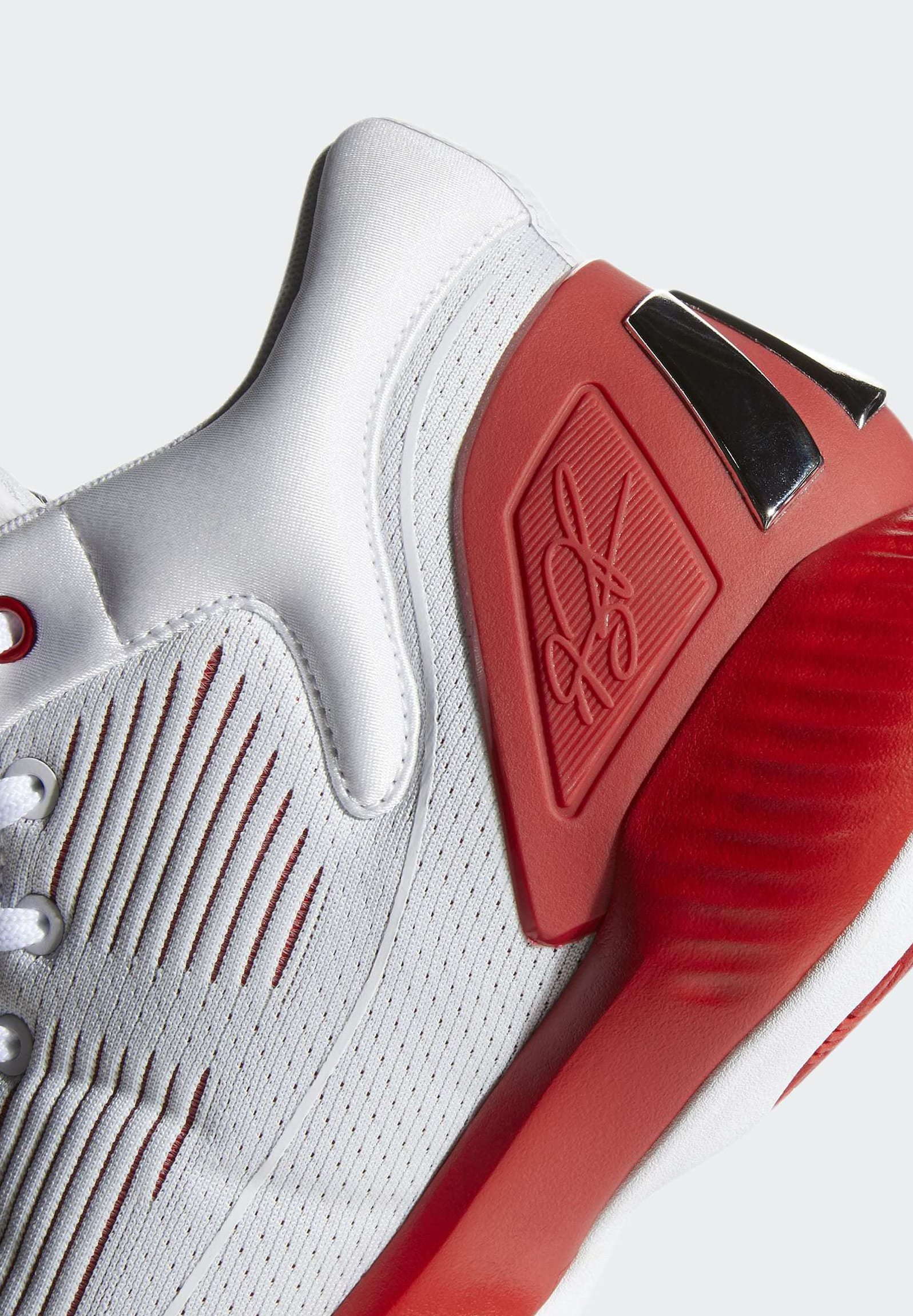 adidas Performance D ROSE 10 SHOES - Basketballschuh - grey/red/white/grau - Herrenschuhe Rwq9j