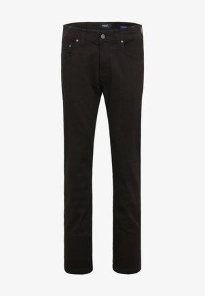 Straight leg jeans - black black raw