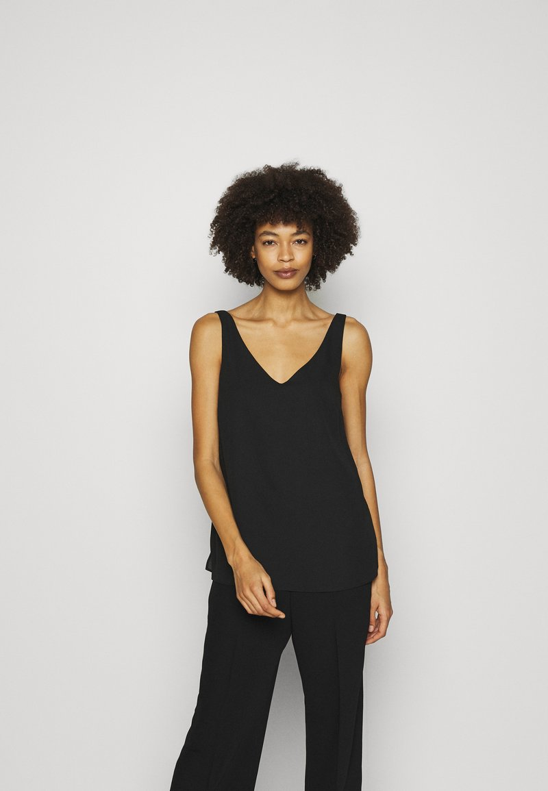 Wallis - V NECK CAMI - Top - black