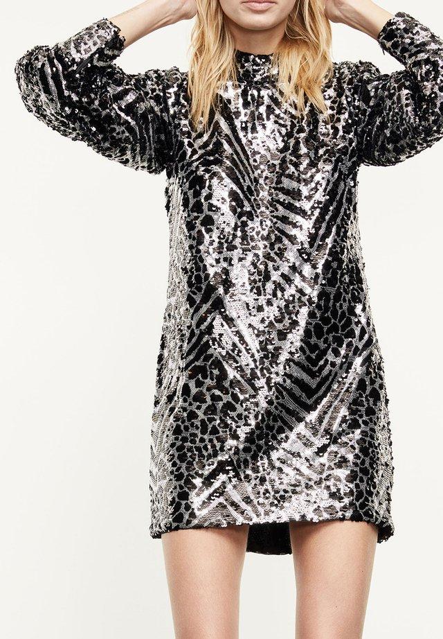 Sukienka koktajlowa - black  silver