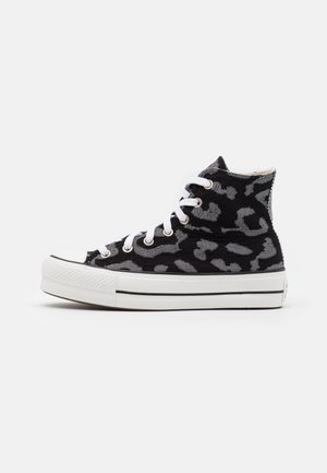 CHUCK TAYLOR ALL STAR LIFT - Höga sneakers - black/grey/white
