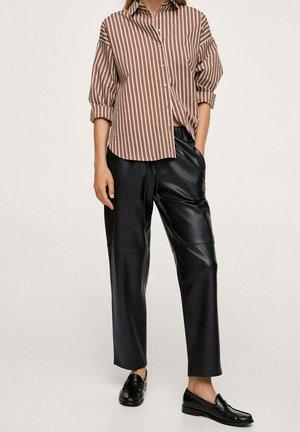 TAILLE ÉLASTIQUE - Pantalon classique - noir