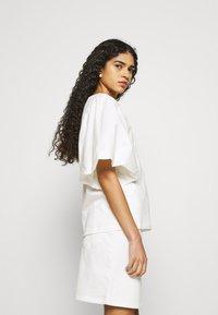 Selected Femme - SLFKENNA SKIRT - Mini skirt - white denim - 4