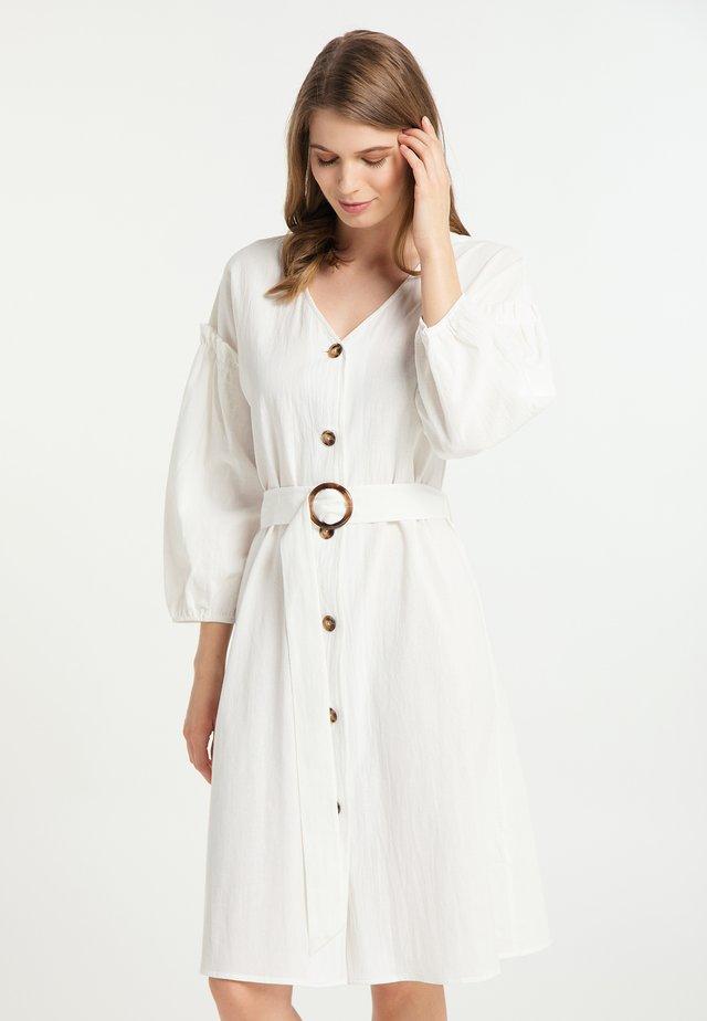 Sukienka koszulowa - wollweiss
