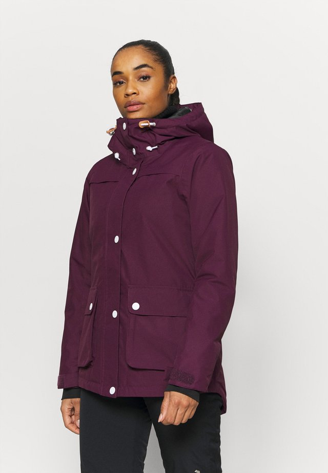 IDA JACKET - Snowboardjas - deep red