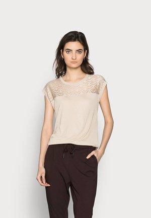 ONLNICOLE MIX - T-shirts - humus