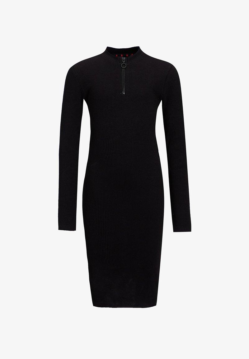 WE Fashion - MET TAPEDETAIL - Etuikjoler - black