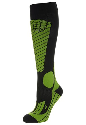 RACE SKIING COMPRESSION - Knee high socks - black/green