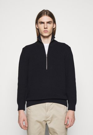 ZIPPED JUMPER - Jumper - black navy