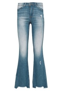 JDY - FLORA - Flared jeans - medium blue denim - 0