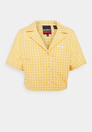 CHECK CROPPED - Skjorte - yellow