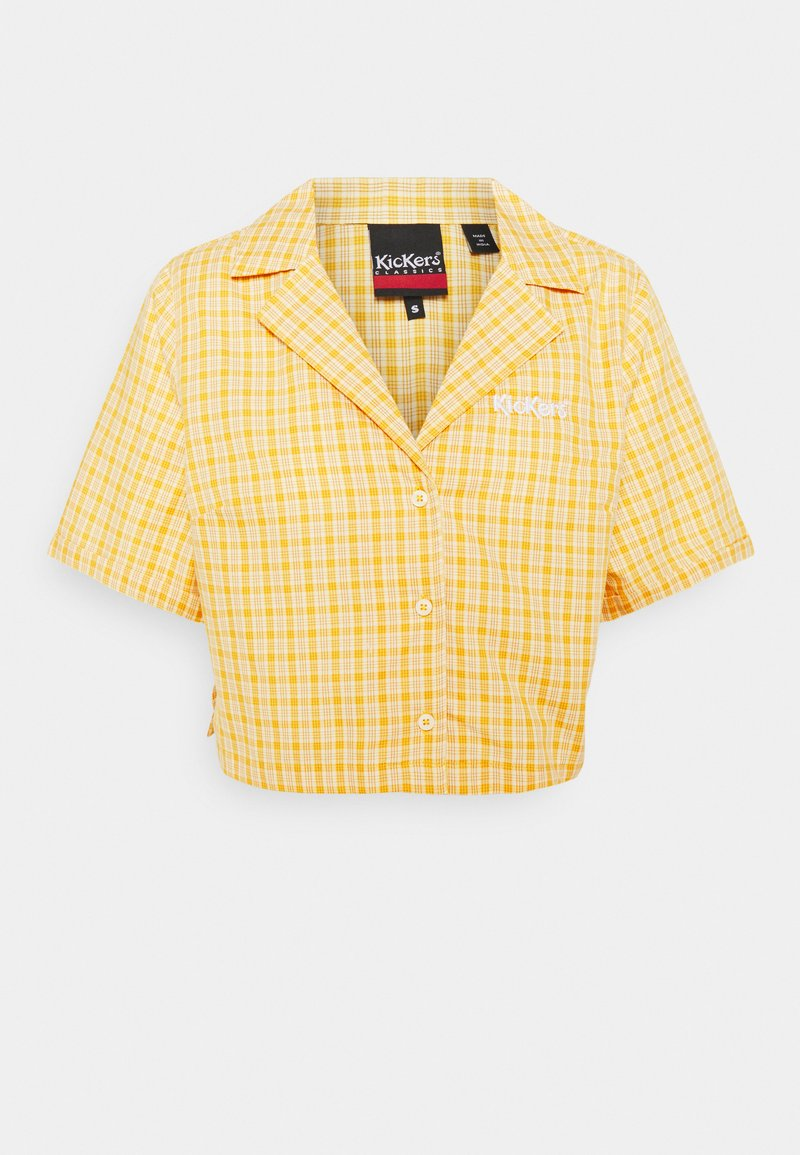 Kickers Classics - CHECK CROPPED - Button-down blouse - yellow