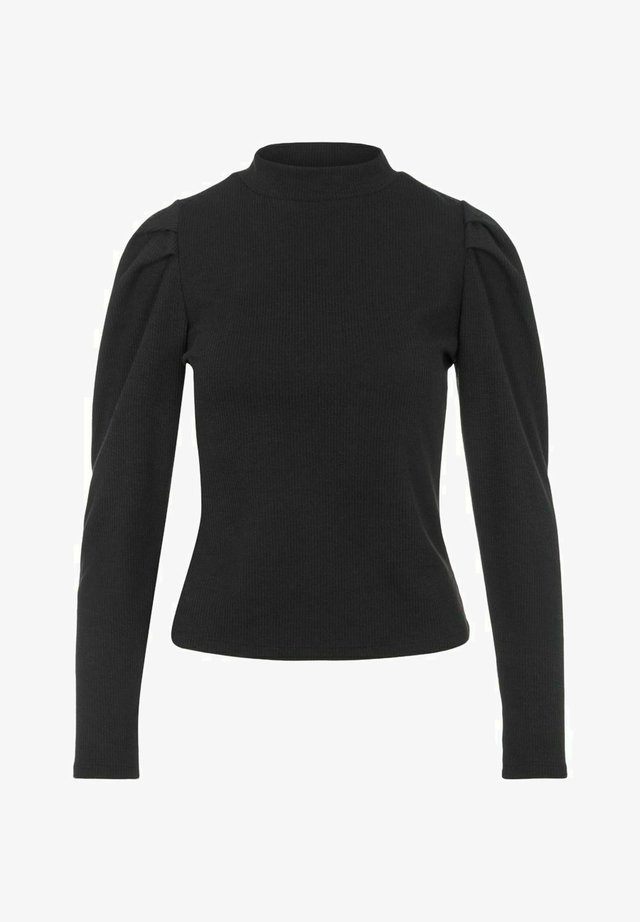 MIT LANGEN ÄRMELN HOHER KRAGEN - Bluzka z długim rękawem - black