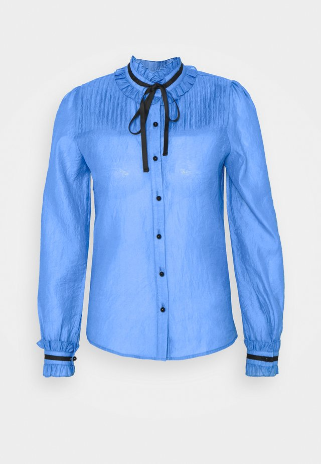 NOTE PLEATED BLOUSE - Bluser - blue
