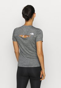 The North Face - W ACTIVE TRAIL WOOL  - Print T-shirt - black heather - 2