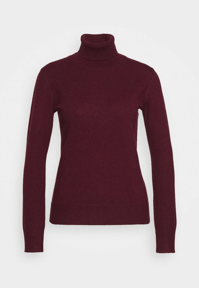TURTLENECK - Strikkegenser - burgundy