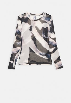 ONLRHONWEN - Long sleeved top - black/white graphic