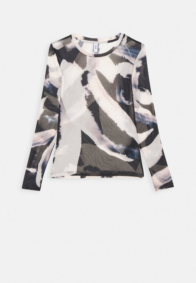 ONLRHONWEN - Long sleeved top - black/white graphic