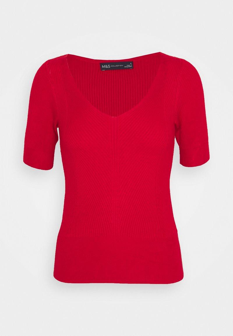 Marks & Spencer London - VEE - Basic T-shirt - red