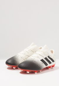 adidas Performance - NEMEZIZ 18.2 FG - Moulded stud football boots - offwhite/core black/active red - 2