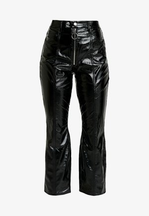 GOOD PATENT EXPOSED ZIPPER AND SEAMS - Kalhoty - black