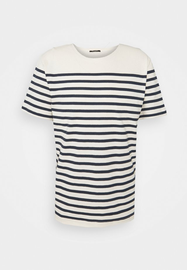 T-shirt imprimé - blue/white