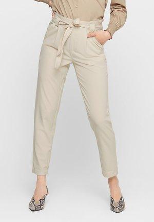 BELT PANT  - Trousers - oatmeal