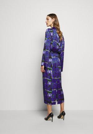 LEONA PRINT - Maxi skirt - blue