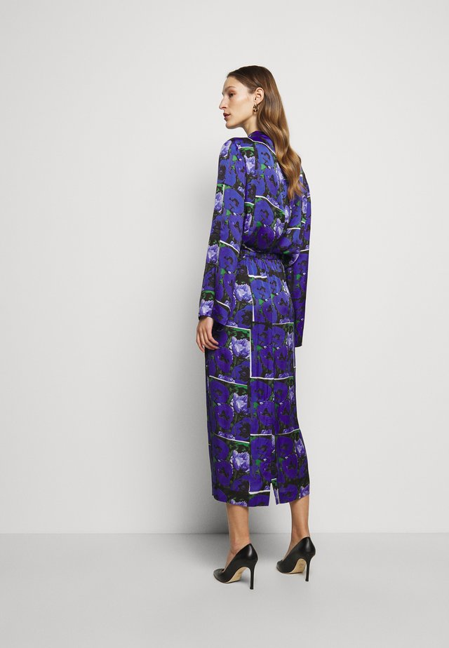 LEONA PRINT - Gonna lunga - blue