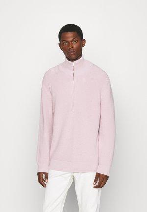 ZIPPED JUMPER - Strikkegenser - light pink