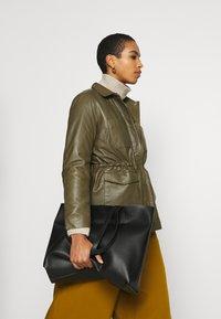 Soft Rebels - SRMATHILDA JACKET - Leather jacket - dark olive - 4