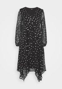 Wallis - SPOT DRESS - Day dress - black - 0