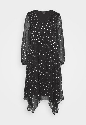 SPOT DRESS - Day dress - black