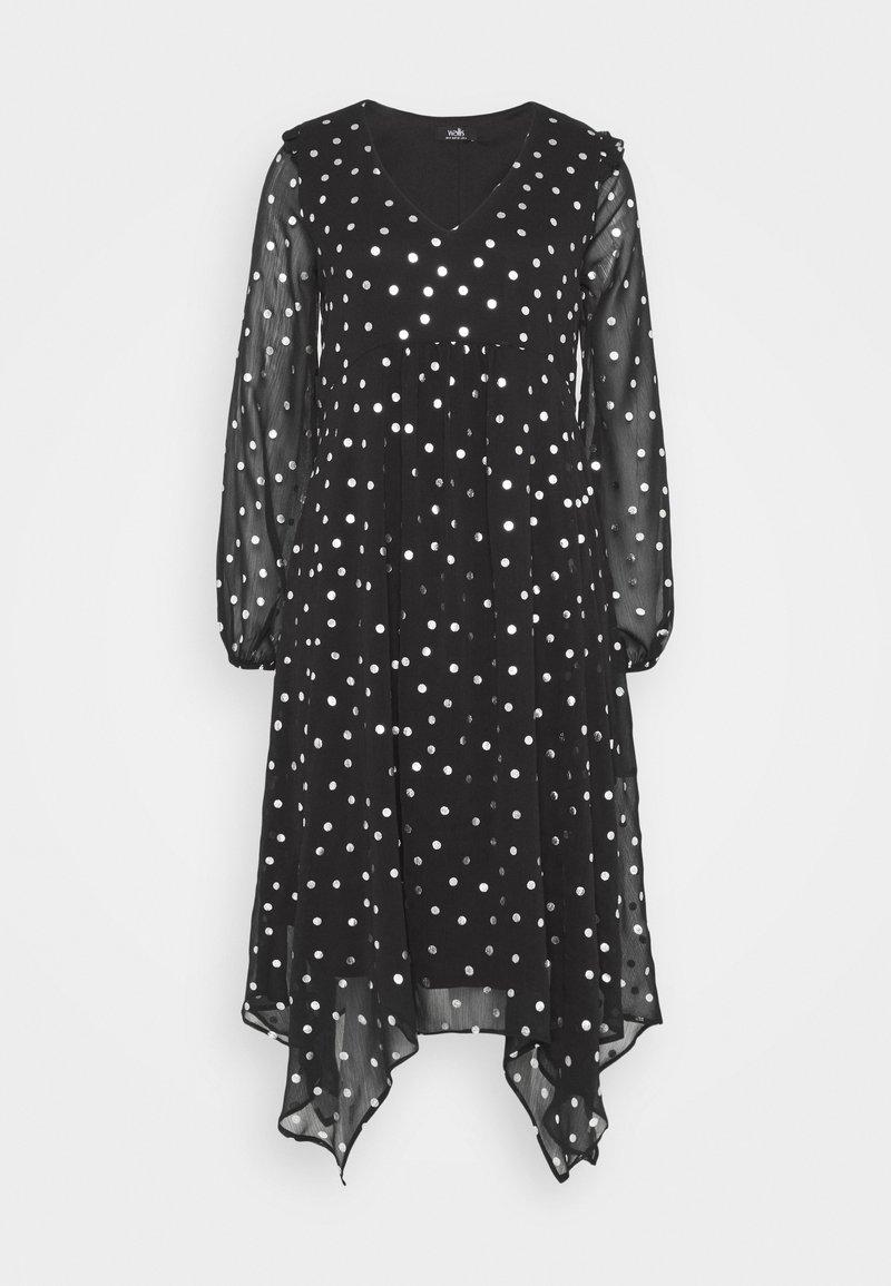 Wallis - SPOT DRESS - Day dress - black