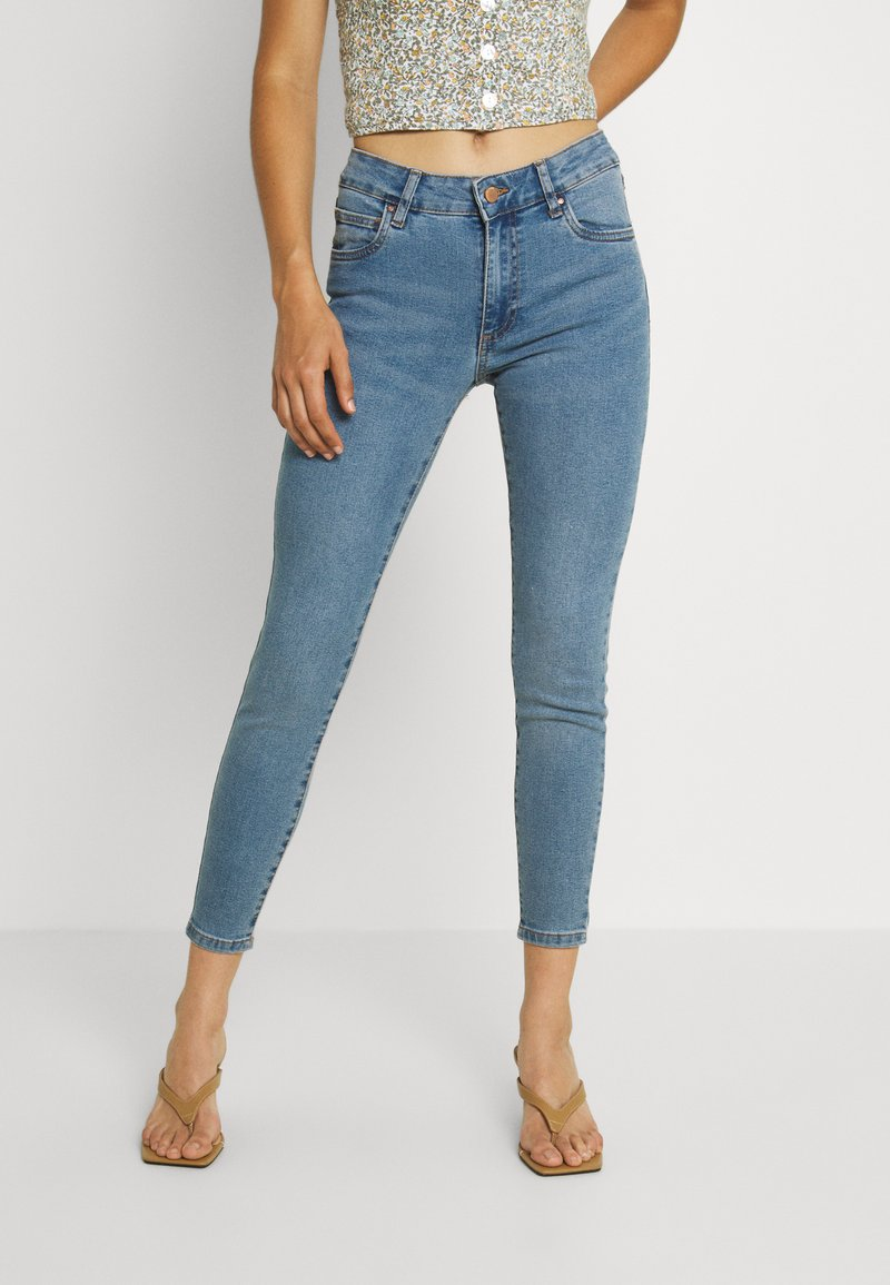 Cotton On - MID RISE CROPPED - Jeans Skinny Fit - jetty blue