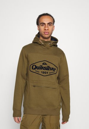 BIG LOGO TECH - Hoodie - military olive