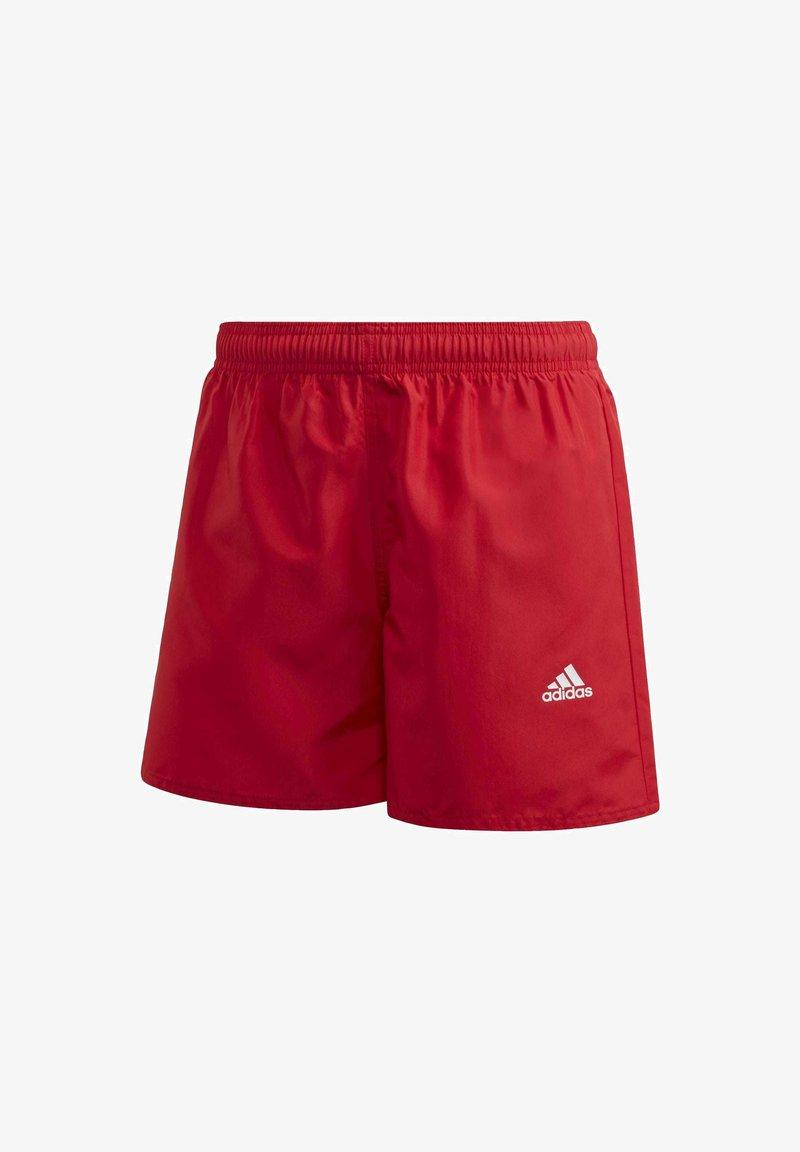 adidas Performance - BADGE OF SPORT PRIMEGREEN REGULAR SWIM SHORTS - Swimming shorts - red