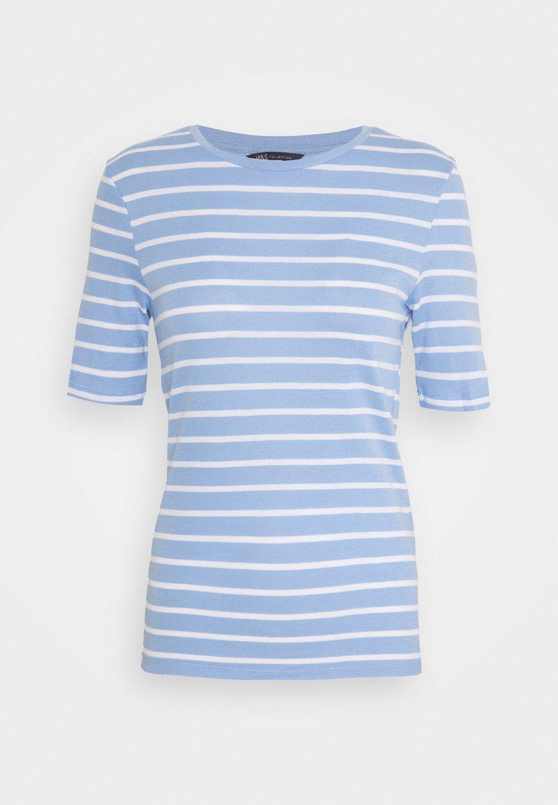 Marks & Spencer London - CREW  - Print T-shirt - blue