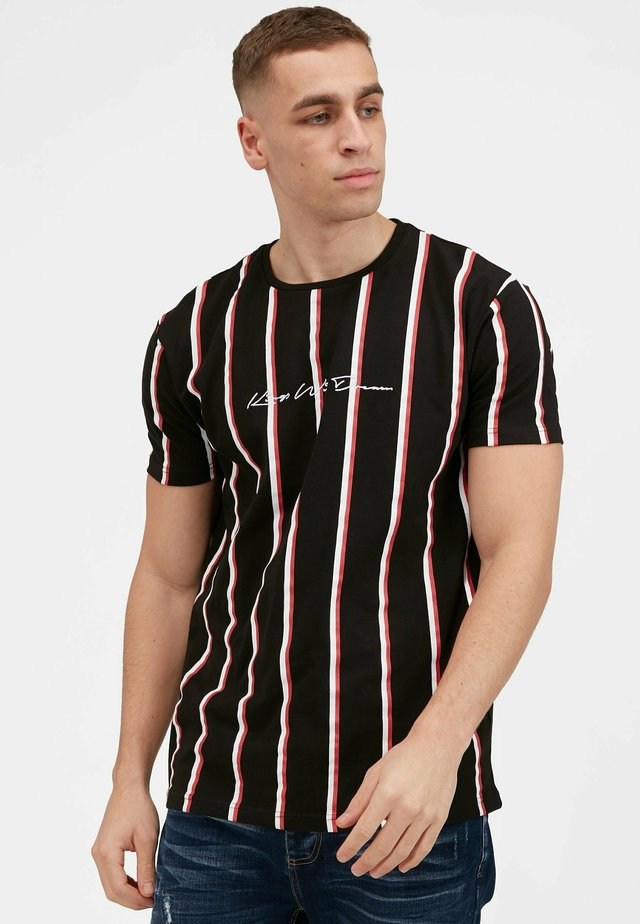MOFFAT - T-shirt con stampa - black / red