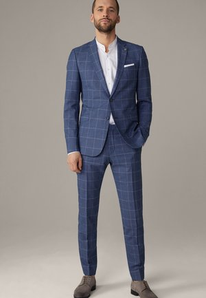 Suit - navy kariert