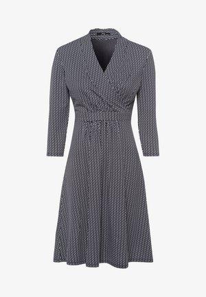 MIT WELLENPRINT - Jersey dress - dark blue