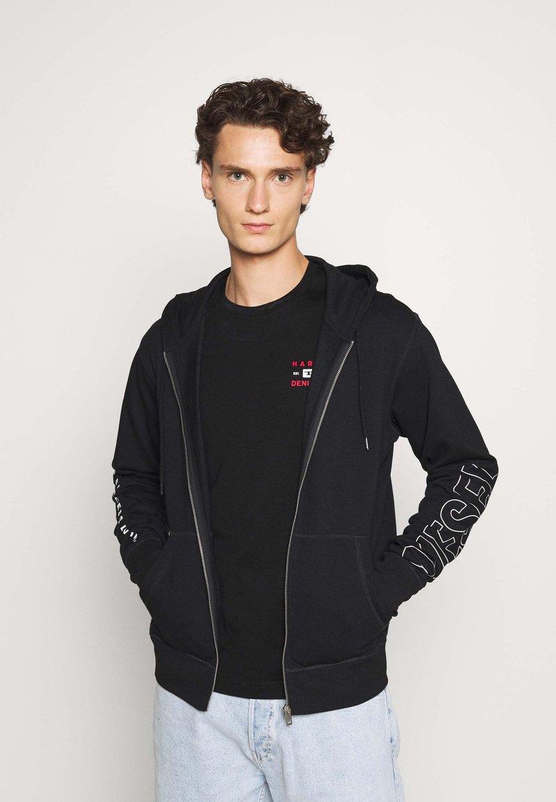 Diesel - BRANDON - veste en sweat zippée - black