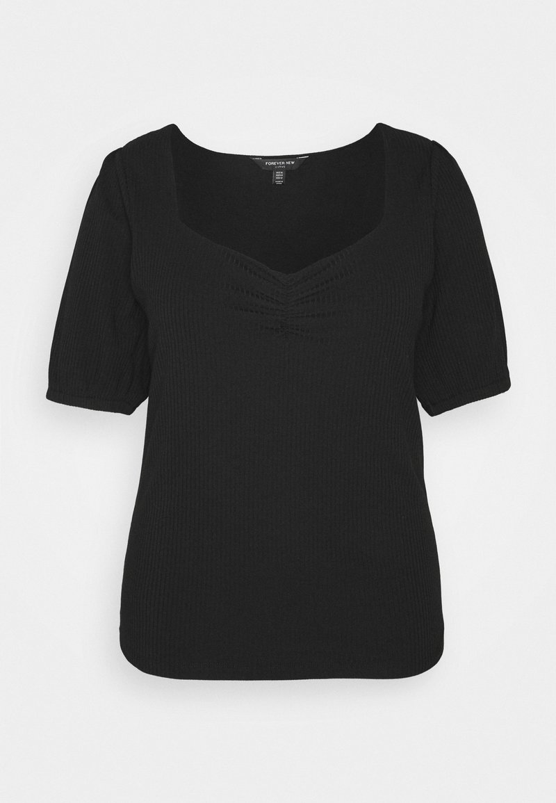 Forever New Curve - SWEETHEART - Print T-shirt - black