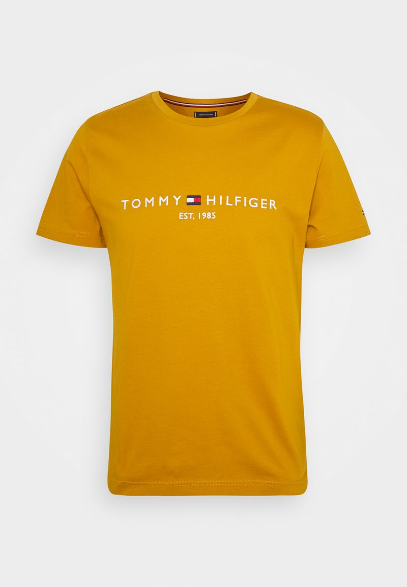 Tommy Hilfiger - LOGO TEE - Printtipaita - crest gold
